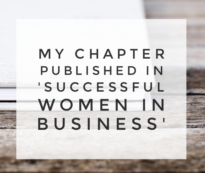 My Chapter published in 'Successful Women in Business