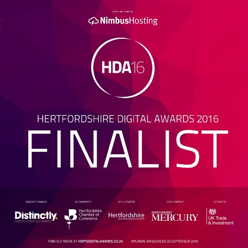Finalist Hertfordshire Digital Awards