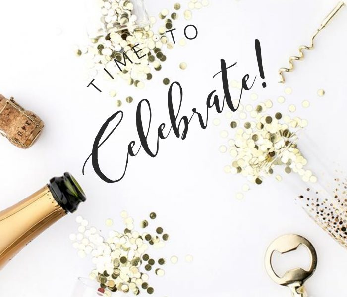 This month I am inspired to… Celebrate!