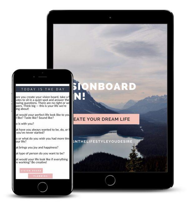 Vision Board Workbook - Planning 2018