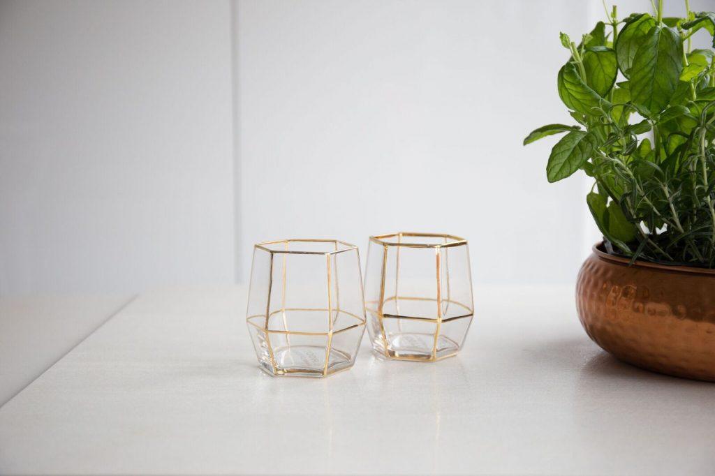 Geo Glass Gold