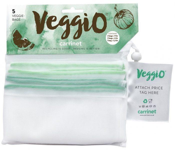 Carrinet Veggio Fruit & Veg Net Drawstring Bags for Life