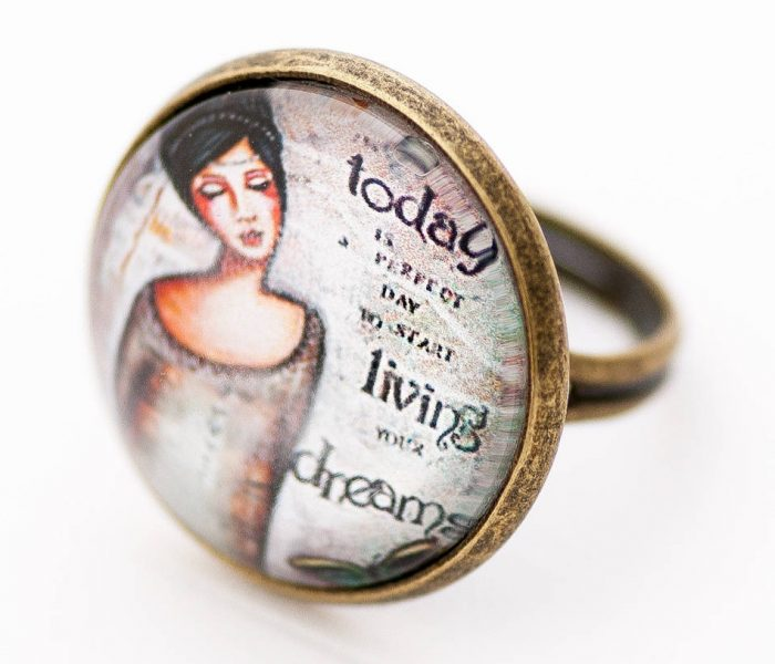 Inspirational Ring by LadyArtTalk